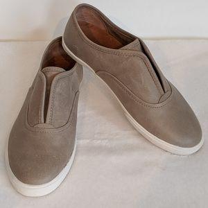 Frye Mindy Leather Slip On Sneaker Grey 8.5 M 🆕